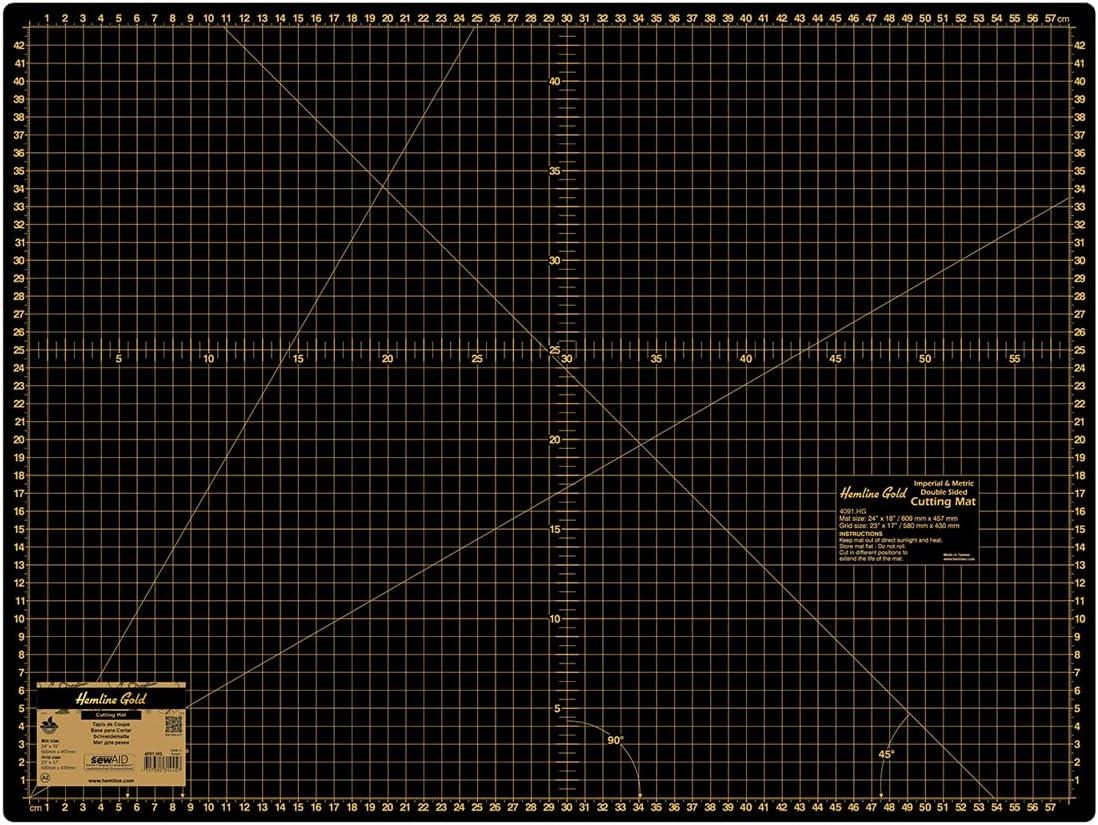 Hemline Gold Cutting Mat: Max 78% OFF Large: Regular store 45cm x 60
