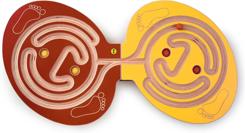 Balancierbrett Duo   In Deutschland hergestellt   1 Spielbrett + 6 Kugeln ( 3 + 3,25 cm)   Material  Sperrholz   für 2 Kinder   ab 5 Jahre