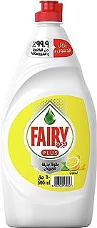 Fairy Plus Lemon Dishwashing Liquid Soap With Alternative Power To Bleach, 600 ml