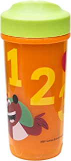 Zak Designs Toddlerific 8.5 oz. Adjustable Flow Toddler Sippy Cup, 123 Curious Learner