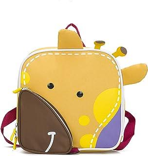 Piepmatz und Grünschnabel Kindergarten-Rucksack Giraffe mit Brustgurt, niedlicher Baby-Rucksack für 1-5 Jährige, Kinder-Rucksack, Mini Pack Back, Farbe: gelb