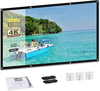 SHOU 100 inch Projector Screen 16:19 HD 4K Foldable and...