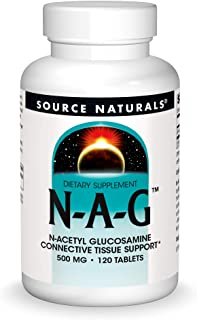 Source Naturals N-A-G 500 mg N-Acetyl Glucosamine for Joint Support and Intestinal Lining - 120 Tablets