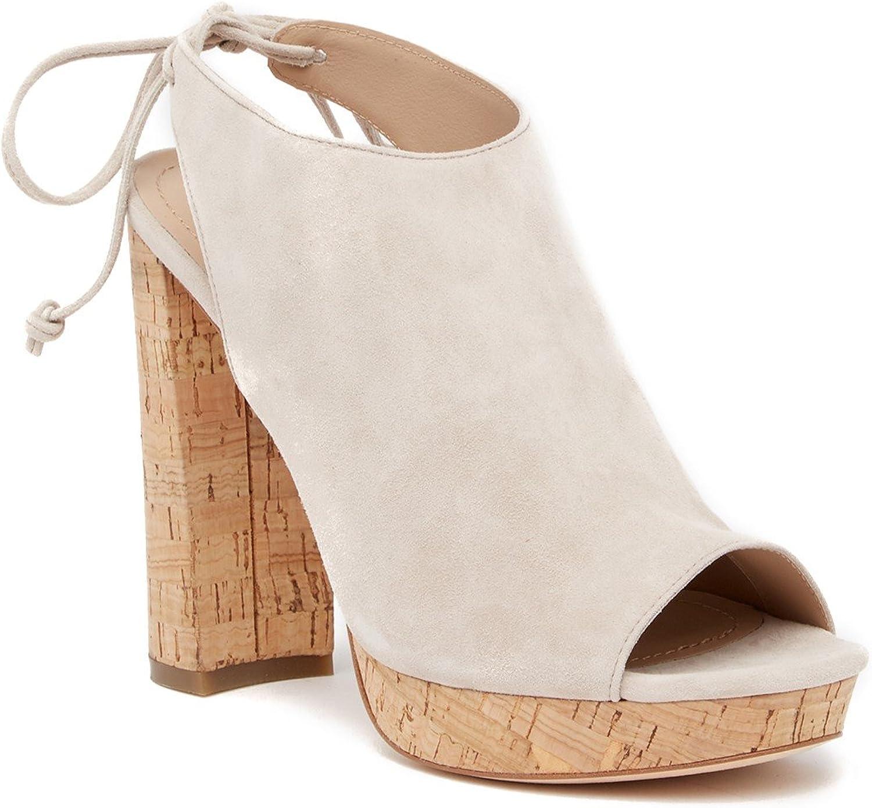 Pour La Victoire Womens Yannacs Suede Peep Toe Casual Platform Sandals