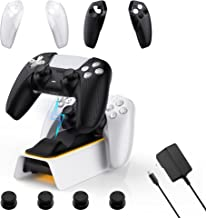 $49 » 6 In 1 PS5 Controller Charging Station Kit Including WeProGame Dobe Charging Dock Mate Controller Skins x2, Thumb Grips x...