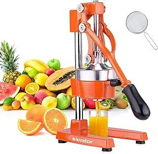 Slendor Commercial Citrus Juicer Manual Fruit Juicer and Orange Squeezer Metal Hand Press Juice, Heavy Duty Orange Juicer ...