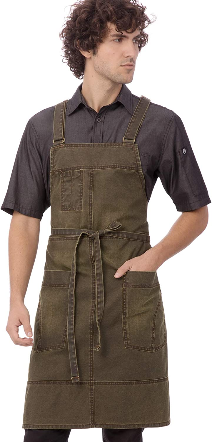 Chef Works Warren Popular products Cross-Back Bib One Maize Apron Size Direct store