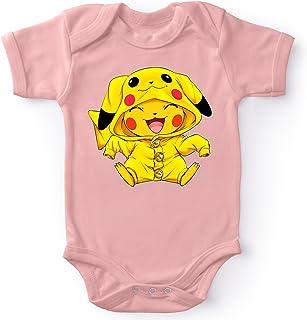Okiwoki Body bébé Manches Courtes Filles Rose Parodie Pokémon - Pikachu - Le Cosplayer Ultime !!(Body bébé de qualité sup...