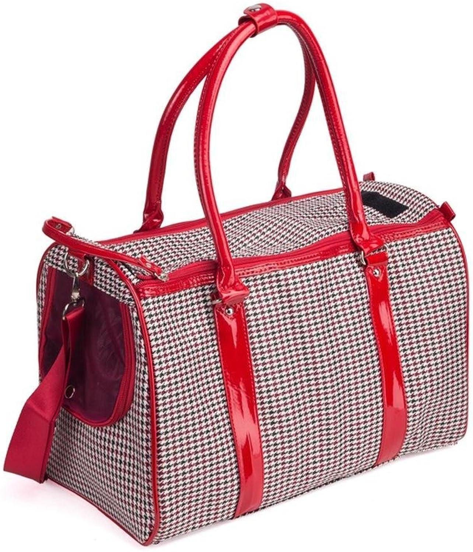 Dixinla Pet Carrier Backpack PU Travel Backpack Breathable portable pet dog suitcase cat cage, 40cm26cm20cm