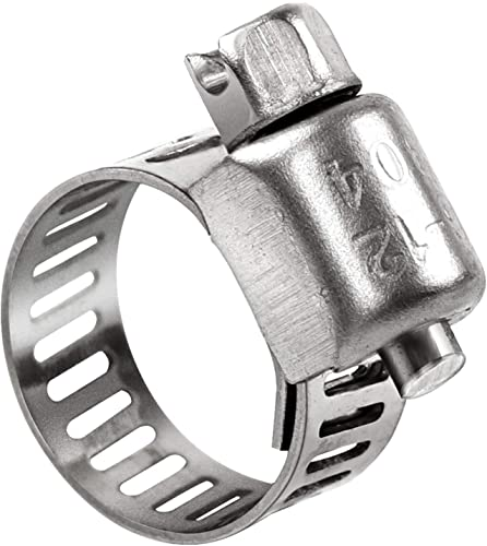 discount HongWay Hose Clamp, 25 Packs Adjustable 6-12mm (1/4-7/16 inch) sale Size Range, 304 Stainless Steel Worm Gear Hose discount Clamp, Suitable for 3/8in Plumbing, Automotive and Mechanical Application outlet online sale