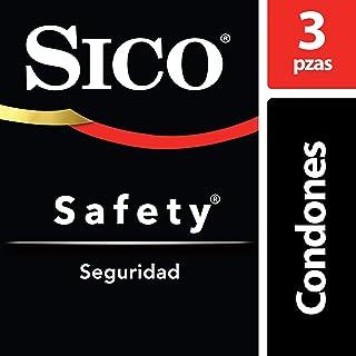 Sico Safety ,Condones Lubricados Básicos, Seguridad, Paquete con 3 Piezas