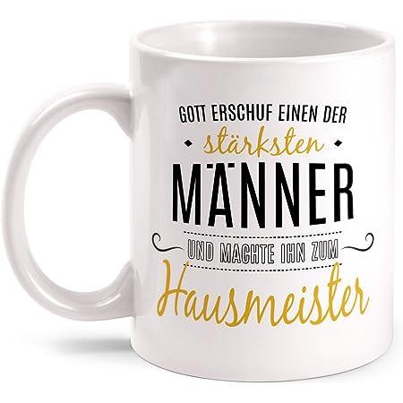 Hausmeister Tasse Spruch Leg dich niemals Geschenk Idee Facility Manager Lustig