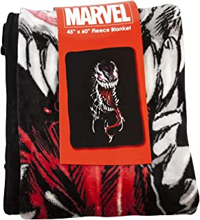 Marvel Venom 60 x 40 Inches Fleece Throw Blanket -  Novelty Home and Collectible Accessories - Unique Token for Birthdays, Holidays, House Warming Parties