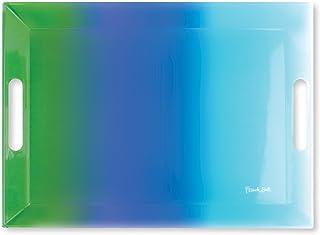 (Blue Ombre) - French Bull 48cm Rectangular Tray - Melamine Dinnerware - Platter, Dish, Serving, Bar - Blue Ombre