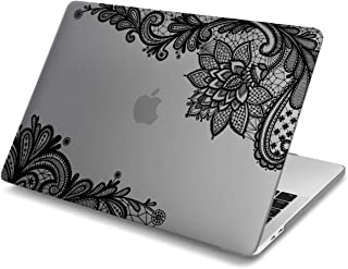 Batianda Lace Design Matte Hard Cover Case for New MacBook Air 13 inch 2019 2018 Version with Retina Touch ID Model:A1932 (Grey)