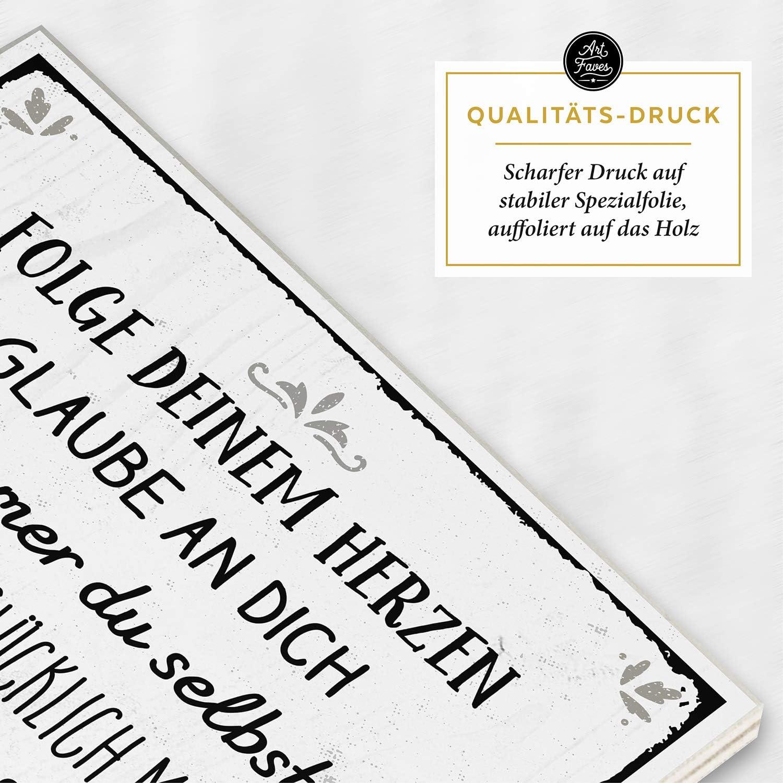 Vintage Shabby Deko-Wandbild//T/ürschild DASS ES Dich GIBT SCH/ÖN ARTFAVES Holzschild mit Spruch