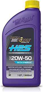 Best Royal Purple (36250-6PK) HPS 20W-50 Synthetic Motor Oil with Synerlec Additive Technology - 1 Quart, (Case of 6) Review
