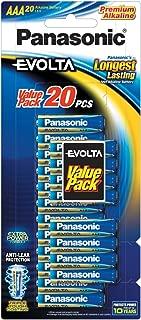 Panasonic AAA, Premium Alkaline Panasonic Evolta AAA Battery, (LR03EG/20B)