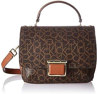 كالفن كلاين حقيبة للنساء-بني - حقائب طويلة تمر بالجسم