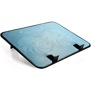 【MAMiO】 ノートパソコン 冷却台 冷却ファン 【冷えまCOOL】 アルミ メッシュ 加工 スタンド 付き 140mm 大型 静音ファン 2基 GQ012c (青)
