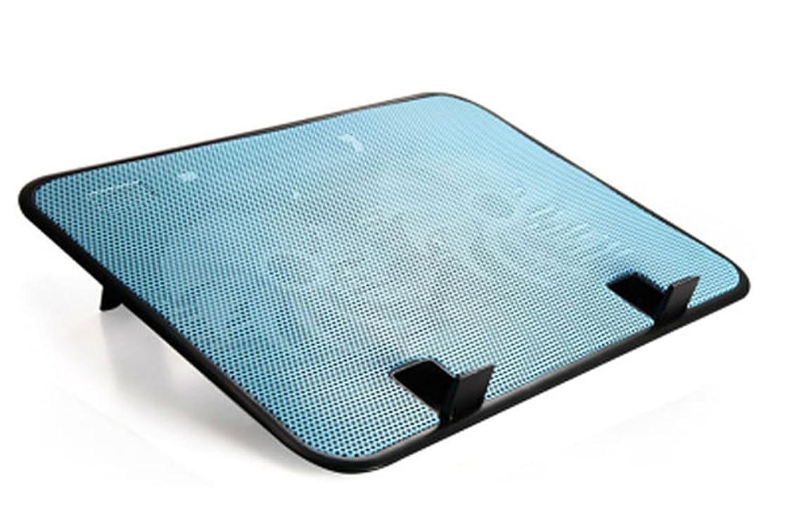 スズメバチ程度パスノートパソコン 冷却台 冷却ファン pcファン 【冷えまクール】10-14インチ対応 ノートPC クーラー 140mm 大型 静音 ファン 2基 と アルミ メッシュ 加工 スタンド 付き で 強力に 冷却 軽量 薄型 設計 で 持ち運びも 簡単 自宅 オフィス 使用 に 最適 高温 排熱 放熱 対策 に usb端子  熱暴走 や pc の 故障 熱対策に(青)