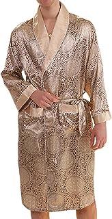 6c5f08062b MAGE MALE Men s Summer Luxurious Kimono Soft Satin Robe with Shorts  Nightgown Long-Sleeve Pajamas
