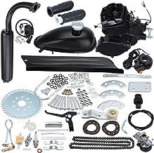 Sange 2 Stroke Pedal Cycle Petrol Gas Motor Conversion Kit Air Cooling Motorized Engine Kit for Motorized Bike (Negro, 80cc)