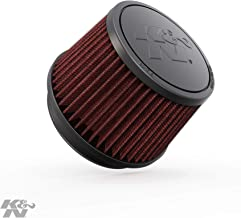 K&N Universal Clamp-On Engine Air Filter: Washable and Reusable: Round Tapered; 4 in (102 mm) Flange ID; 3.5 in (89 mm) Height; 5.375 in (137 mm) Base; 4.375 in (111 mm) Top , RU-2510