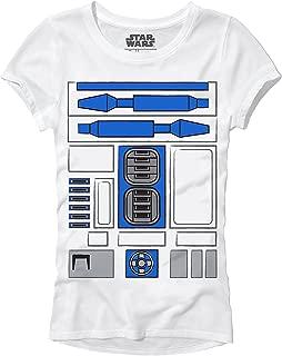 R2D2 R2-D2 Droid Costume Funny Humor Pun Adult Women's Juniors Slim Fit Graphic Tee T-Shirt Apparel