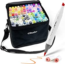 Ohuhu Brush Markers, 120-color Double Tipped Art Marker Set, Brush & Chisel, Alcohol Markers for Coloring Illustration, 1 ...