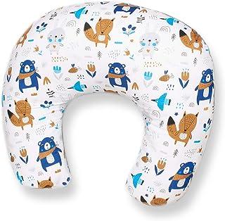 PALULLI Cojín de lactancia pequeño para bebé, incluye funda de algodón 100%, Öko-Tex, fabricado en la UE, multifuncional.