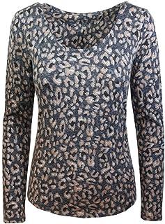 22141396c67c84 Marks and Spencer Ladies Stunning Grey Mix TOP T-Shirt Animal Print M&S