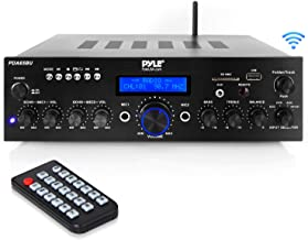 Wireless Bluetooth Power Amplifier System - 200W Dual Channel Sound Audio Stereo Receiver w/ USB, AUX, MIC in w/ Echo, Radio - for Home Theater Entertainment via RCA, Studio Use - Pyle PDA65BU