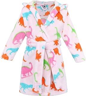 Image of Fun Colorful Dinosaur Bathrobe for Toddler Girls and Girls