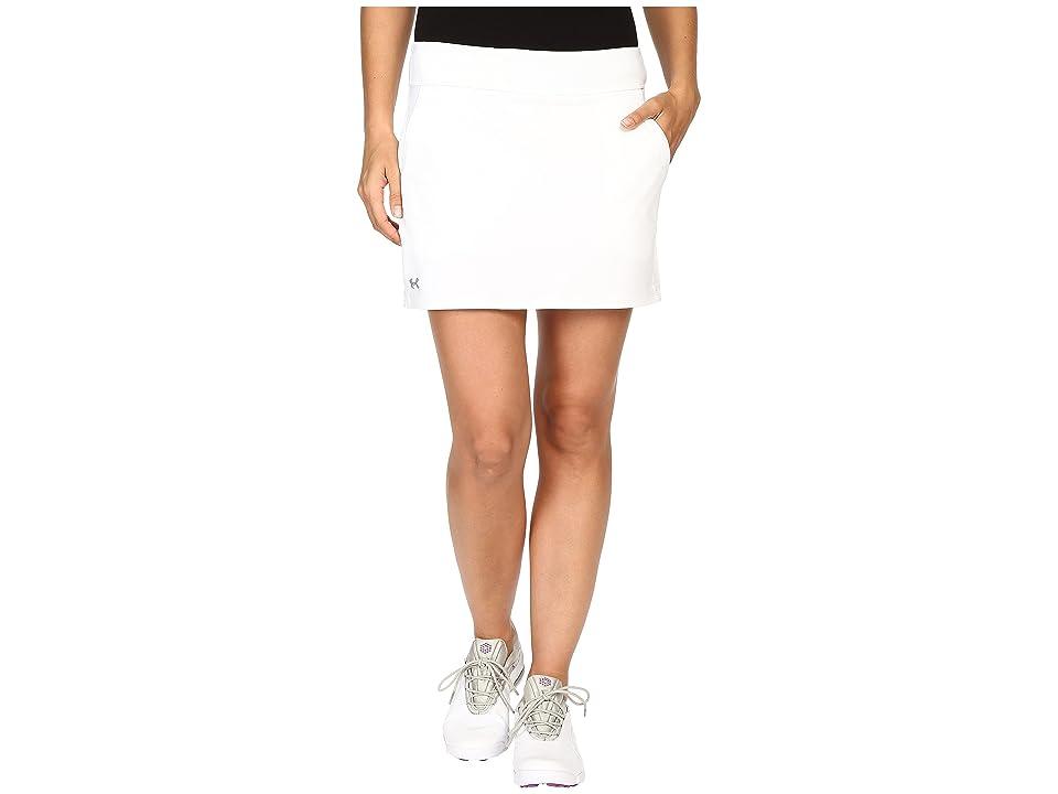 Under Armour Golf Links Knit Skort (White/White/Steel) Women