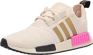 adidas Originals womens Nmd_r1 Sneaker, Cream White/Gold Metallic/Screaming Pink, 8.5 US