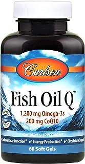 Carlson Fish Oil Q 100 mg, Omega-3s and CoQ10, 60 Soft Gels