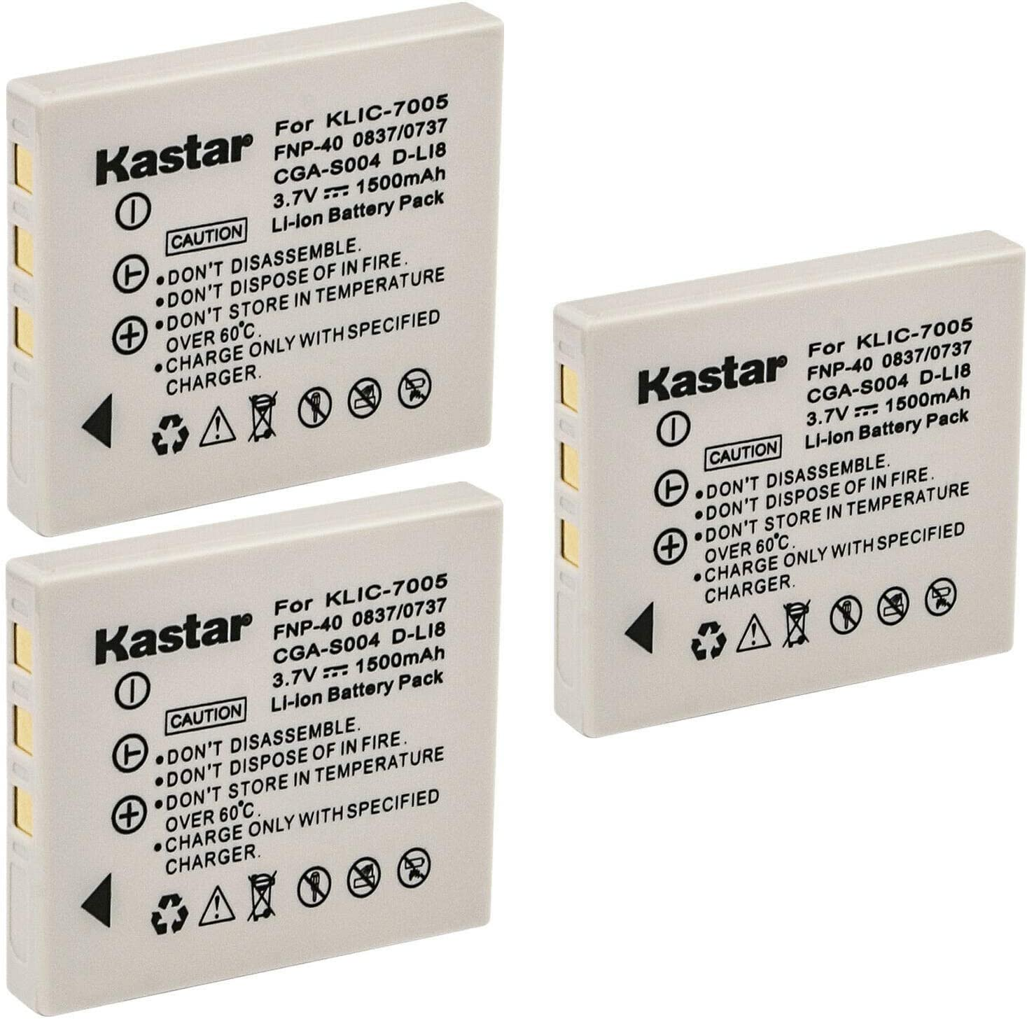 Trust Kastar 3-Pack Battery Replacement Sanyo Great interest NP-40 for