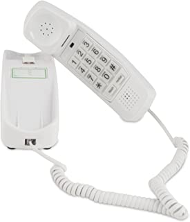 Trimline Corded Phone - Phones for Seniors - Phone for Hearing impaired - Choctaw White - Retro Novelty Telephone - an Improved Version of The Princess Phones in 1965 - Style Big Button