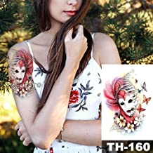 Adesivi per tatuaggi impermeabili femminili con braccio grande e rose animali di moda