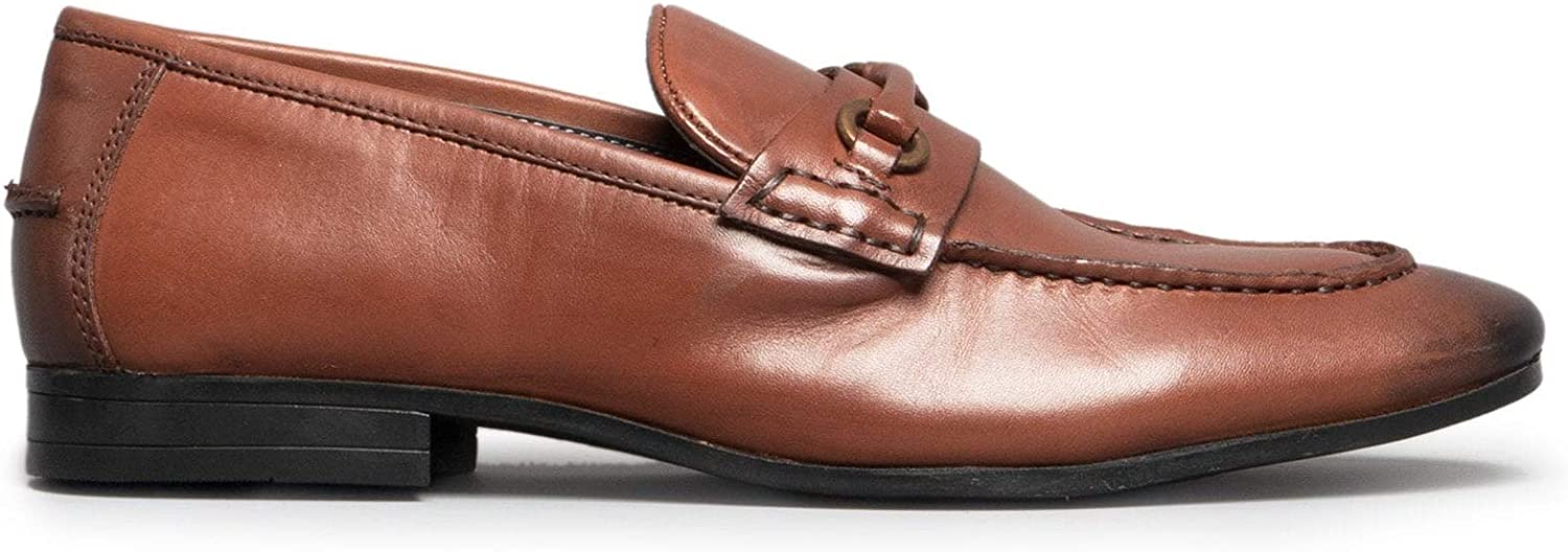 Silver Street London Carlton Mens Leather Loafers Brown