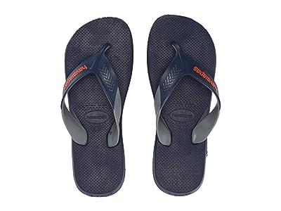 Havaianas Dynamic Flip Flops (Navy Blue/Steel Grey) Men