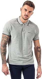 Ben Sherman Men's Tipped Pique Polo Shirt L Grey