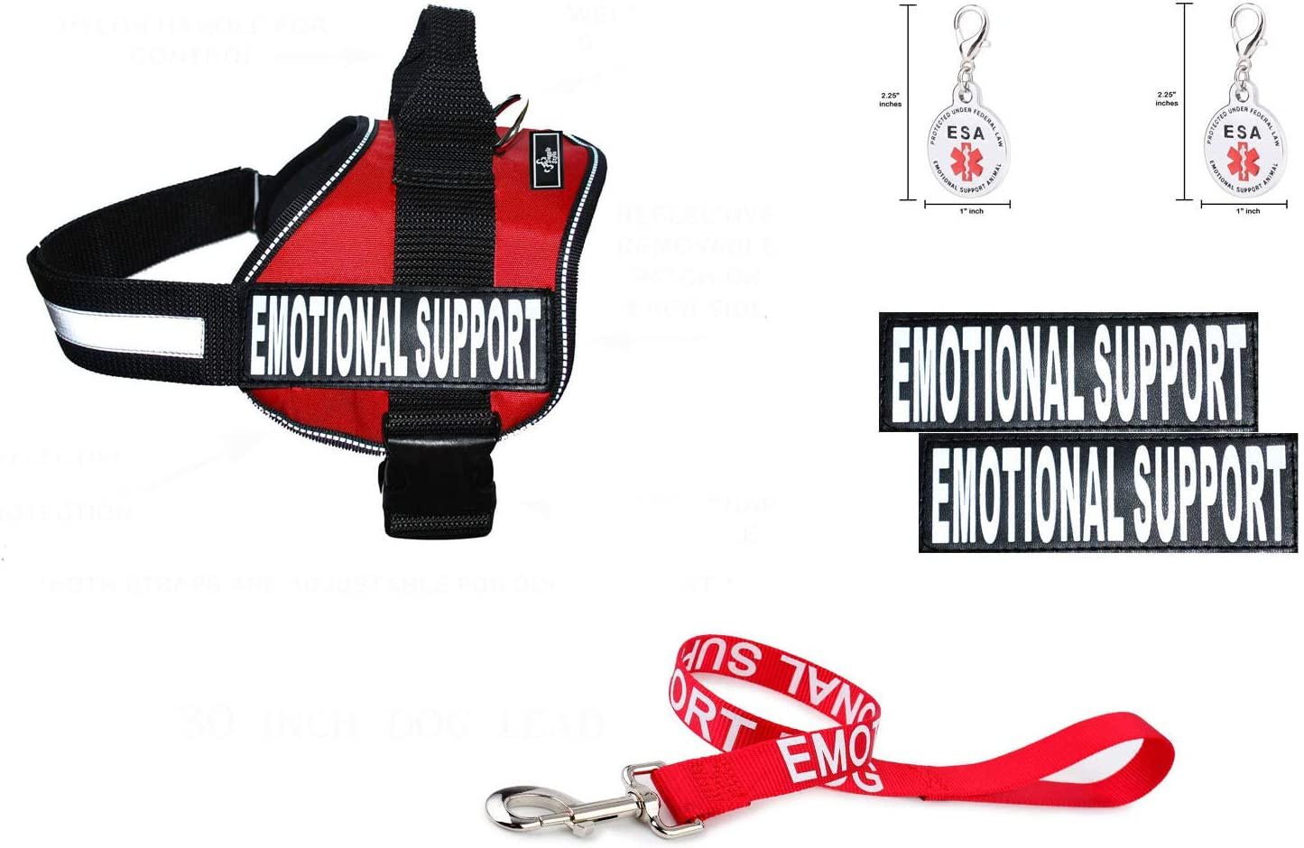 Doggie Stylz Super Special 5% OFF SALE held Official Emotional Support ESA Vest Harness Bundle