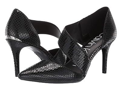 Calvin Klein Gella Pump (Black Snake Print) High Heels
