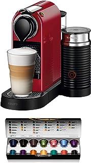 Nespresso Krups Citiz XN7605 - Cafetera monodosis de cápsulas Nespresso con aeroccino, compacta, 19 bares, apagado automát...