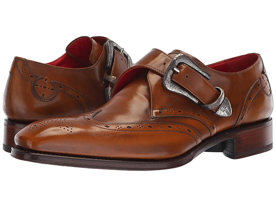 Jeffery-West Taboo Coop Hammered Buckle Monk Shoe (Hand Burnished Tan) Men