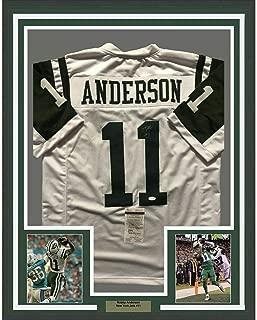 Robby Anderson (New York Jets) Autographed Jersey - FRAMED 33x42 NY White COA - JSA Certified - Autographed NFL Jerseys