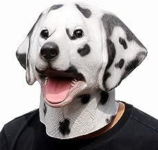 CreepyParty Deluxe Halloween Costume Party Latex Animal Dog Head Mask Dalmatian
