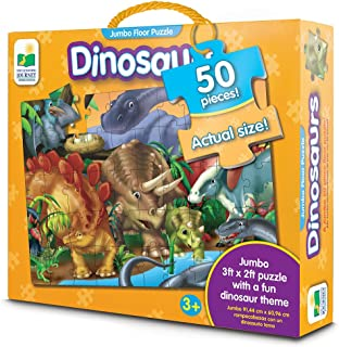 The Learning Journey: Jumbo Floor Puzzles - Dinosaurs - Extra Large Puzzle Measures 3 ft by 2ft
